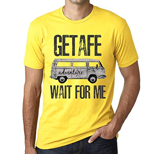 One in the City Hombre Camiseta Vintage T-Shirt Gráfico Getafe Wait For Me Amarillo