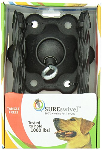 SUREswivel 360 degree Swiveling Pet Tie-Out, Made...