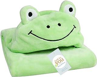 Sensail B/éb/é Serviette de Bain Animaux Kawaii Gant de Toilette Pour Enfant Bain Grenouille verte