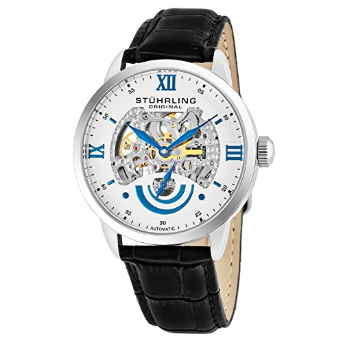 Stuhrling Original Executive II Men's Automatic Watch with White Dial...