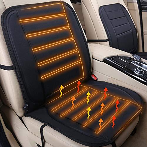 Sporgo Sitzheizung fürs Auto, Sitzheizung Auto Auflage 12V Auto Sitzheizung Heizkissen Heizauflage Heizstufe Beheizbar Kissen Schwarz