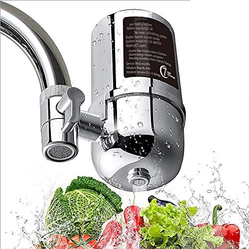 Filtro del Grifo Inicio Cocina,Filtro de agua On Tap, Purificador,Elimina el Fluoruro de Plomo y El Cloro,Se Adapta a Grifos Estánd