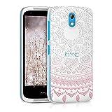 kwmobile HTC Desire 526G Hülle - Handyhülle für HTC Desire 526G - Handy Case in Indische Sonne Design Rosa Weiß Transparent