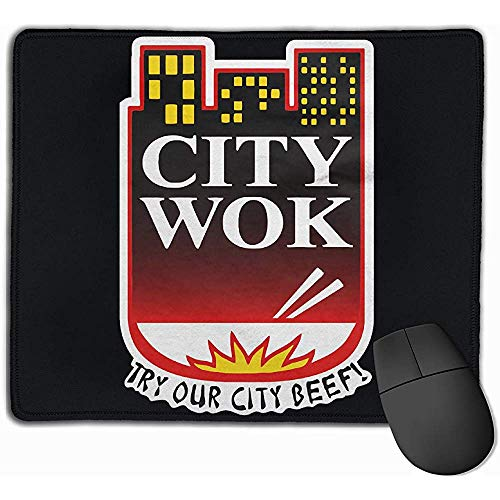 City Wok Mousepad Gaming Mouse Pad Natuurlijke Rubber