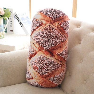 Yancyong Das Brot Kissen Waschbar, Sesam Roll, 80 cm Waschbar