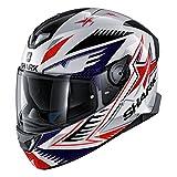 Shark Unisex-Adult Full Face Helmet (White/Blue/Red, S - 55-56 cm - 21.7-22'')