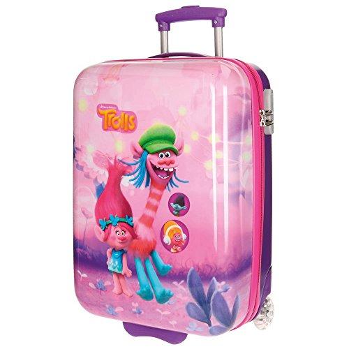 Trolls Friends kinderbagage, 55 cm, 34 liter, roze