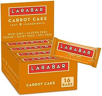 16-Pack Larabar, Fruit & Nut Bar, Carrot Cake, Gluten Free, Vegan,1.6 Ounce