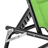 blumfeldt Amalfi Juicy Lime Liegestuhl Sonnenliege Gartenliege Liegefläche (ergonomische Form, verstellbare Sonnenblende, 5-stufig verstellbare Rückenlehne, Metallrahmen, Pulverbeschichtung) grün - 6