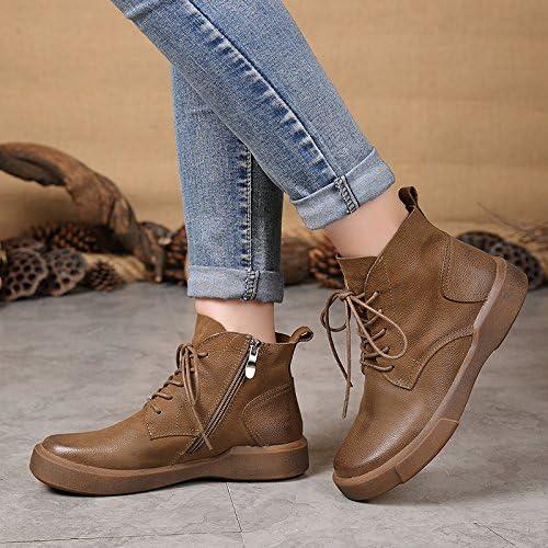 GTVERNH-Nuevas botas de invierno botas de mujeres mujeres retro amantes ocasionales Martin botas
