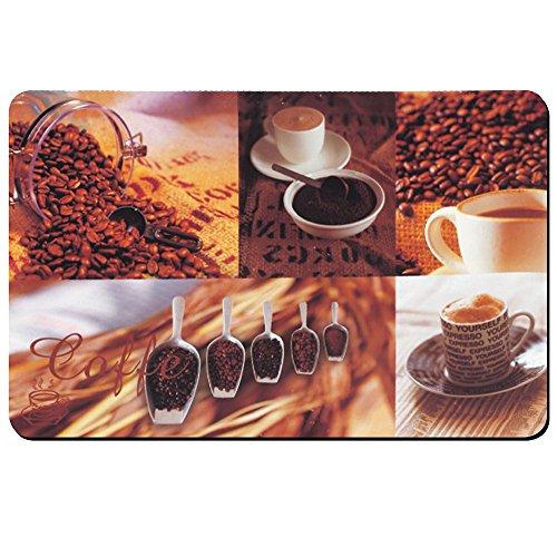 kela Set de Table Café 43x28,5cm en PP Plastique, Brun/Blanc, 43,5x28,5x1 cm