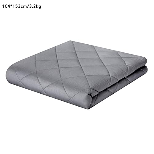 Weighted Blanket   41''x60''   7lbs   Premium Cotton with Glass Beads   Gray   for Adults Women, Men, Kids