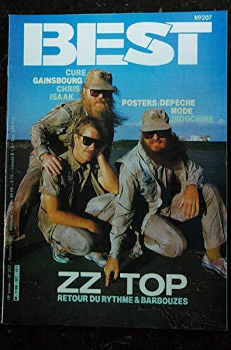 BEST 207 OCTOBRE 1985 CURE GAINSBOURG CHRIS ISAAK ZZ TOP