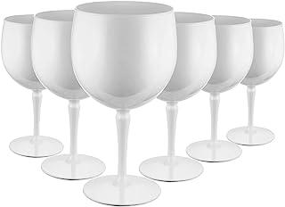 RB Ballon Gin Cocktail-Gläser Weiß Premium-Kunststoff Unzerbrechlich Wiederverwendbar 40cl, 6 Stück