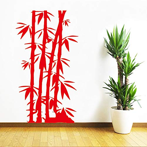 AiyoAiyo DIY Bambus Familie Wandaufkleber Kunst Wohnkultur Für Kinderzimmer wasserdichte Wandkunst Aufkleber rot30 cm X 50 cm