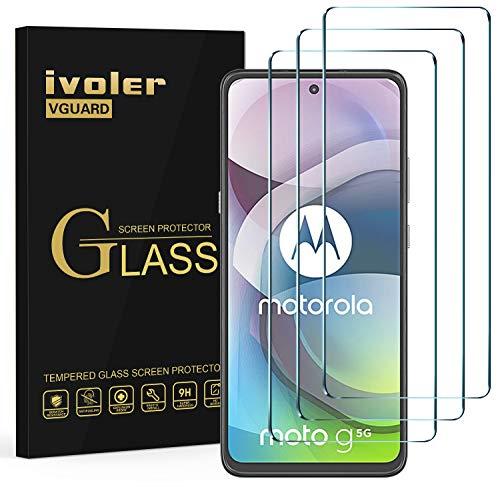 ivoler 3 Stücke Panzerglas Schutzfolie für Motorola Moto G 5G / Motorola Moto Edge 20 Lite, 9H Festigkeit Panzerglasfolie, Anti-Kratzen Folie, Anti-Bläschen Bildschirmschutzfolie, Kritall-Klar Hartglas