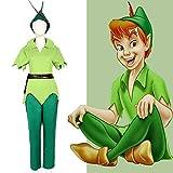 Jwyq Disfraz de Peter Pan de Halloween para hombre Adultos Peter Pan juego de rol trajes verdes con gorra de cualquier tamaño M verde