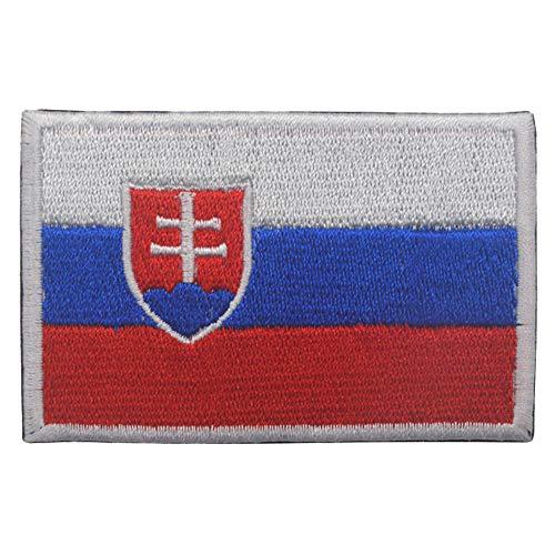 Aufnäher mit Slowakei-Flagge, bestickt, zum Aufbügeln oder Aufnähen, mit Klettverschluss.