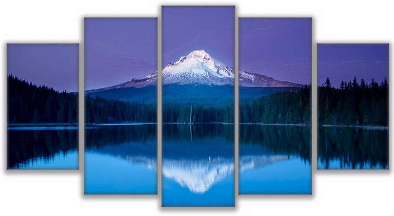 Aisufen Impreso Imagen Modular Gran Lienzo Pintura 5 Panel Montaa Superior Paisaje para el Dormitorio Sala de Estar Inicio Decoración de Arte de Parojo-20CMx35 45 55CM Frame