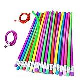 36PCS Flexible Bendy Pencils,18cm Soft Cool Fun...