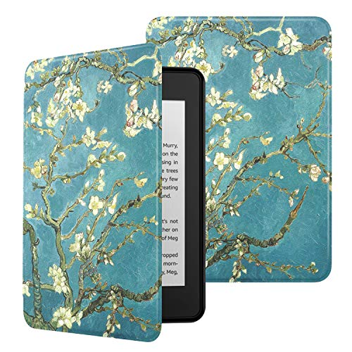 MoKo Funda para Kindle Paperwhite (10th Generation, 2018 Releases), Ultra Delgada Ligera Smart-Shell Soporte Cover Case para Amazon Kindle Paperwhite E-Reader - Bloom de Albaricoque