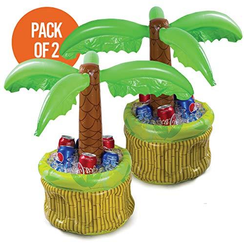 Aufblasbarer Kühler, 66 cm, Bierkühler für Partys, Luau-Partyzubehör für Erwachsene, Sommerparty-Dekoration, aufblasbare Palme für Strand Pool Partys, 2 Stück