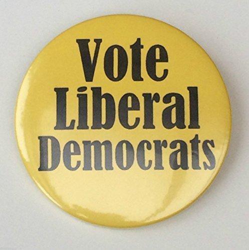 Parti politique Vote Lib Dem campagne électorale 59 mm-Miroir Fantaisie à l'arrière