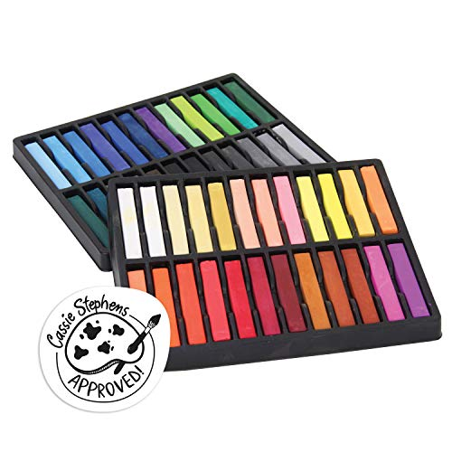 Creativity Street CK-9748 Square Artist Pastels, 48 Assorted Colors, 2.38' x 0.38' x 0.38', 48 Pieces