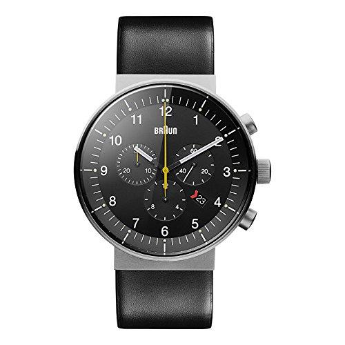 Braun Herren Analog Quarz Uhr mit Leder Armband BN0095SLG