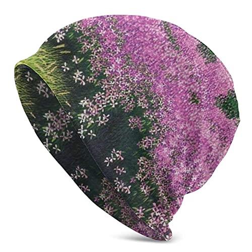 Hdadwy Flourishing Flowers Soft Slouchy Beanie Sombreros Gorra de Calavera Holgada Larga Diaria para Hombres y Mujeres
