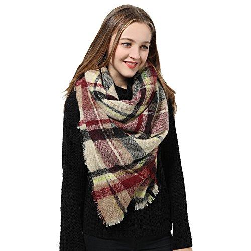 Natural Feelings Soft Plaid Tartan Fashion Blanket Pashmina Scarf Shawl Wraps