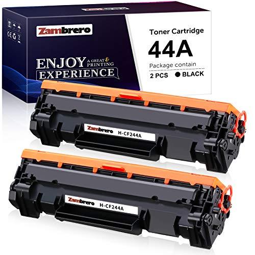 Zambrero 44A Kompatibel Toner Patronen für HP CF244A 44A mit Chip (2 Schwarz) für HP Laserjet Pro MFP-M28w M28a M28 M29w, HP Laserjet Pro M15w M15a M16a M15 M16w M17a M17w Drucker