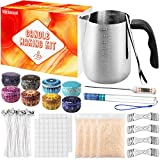 minterest candle making kit, candle making supplies with beeswax 1pc candle make pouring pot, 1pc