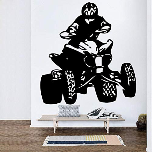 ljjljj Vinyl Wandaufkleber Schlafzimmer quad bikes autos sport meisterschaft mann wandbild für wohnzimmer Wohnkultur 50x83 cm