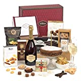 Hay Hampers Ultimate Birthday Food and Wine Hamper For Him With Birthday Cake, Prosecco and Treats