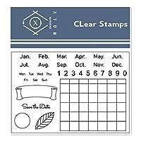 カレンダー透明クリアスタンプ/DIYスクラップブッキングフォトアルバム/カード作成用シリコンシールローラースタンプ