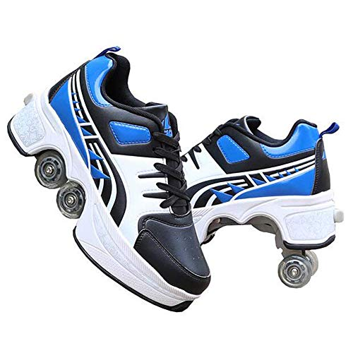 YXRPK Wheels Shoes 4 Roller Automatic Dual Skates Casual Deformation Double Row Roller, Safe and Comfort, Best Choice As A Birthday Present,40
