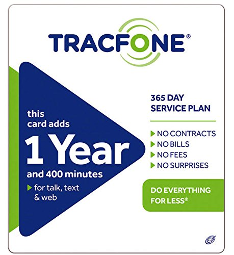 Tracfone 1 Year of Service and 400 Minutes -  TF400