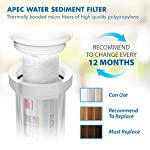APEC Water Systems Filter-Set US Made Double Capacity Replacement Stage 1-3 for Ultimate Series Reverse Osmosis System… 13 APEC ULTIMATE high capacity pre-filter set is USA made and built to last 2x longer than other brands 1st stage polypropylene sediment filter to remove dust, particles, and rust 2nd & 3rd stage extruded carbon block filters to remove chlorine, taste & odor