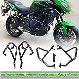 AHOLAA Protector de parachoques de motor de motocicleta barras de choque de acero para KAWASAKI Versys 650 KLE650 2015 2016 2017 2018 2019 2020 2021 (1 juego completo)
