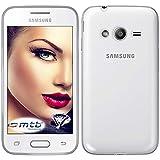 mtb more energy® Schutz-Hülle Clear und Slim für Samsung Galaxy Trend 2 (SM-G313, 4.0'') - transparent - flexibel - TPU Silikon Hülle Cover Tasche