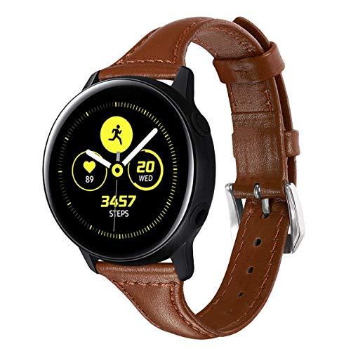 XZZTX Sangle Compatible avec Samsung Galaxy Veille Active/Galaxy Montre 42mm / Vitesse Sport/Garmin Vivomover HR Intelligent Watch, 20 mm Bandes en Cuir Remplacement Wristband