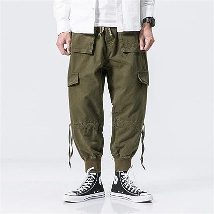 Pantalones Pantalones Juveniles De Dos Patas Para Hombres Pantalones Casuales De Dos Colores Con Lavado Retro Retro Otono Invierno Primavera Verano Color Army Green Size M Amazon Es Hogar
