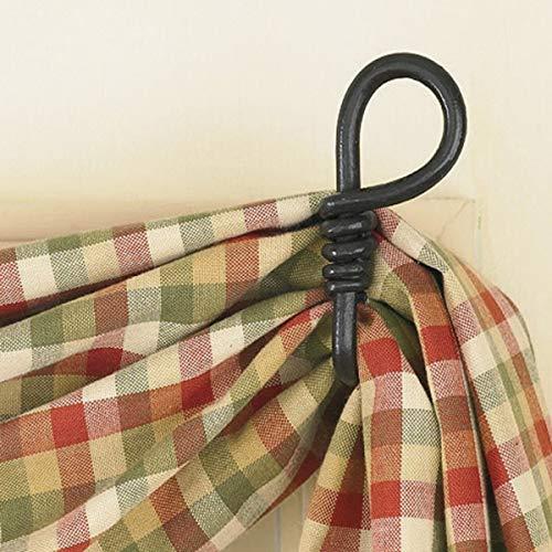 Park Designs Forged Loop Curtains Hook - Black