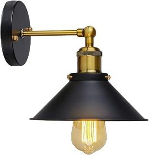 Coquimbo Apliques de Pared Lámpara Vintage Industrial Metal Lámpara de Pared, Casquillo E27 (Negro)