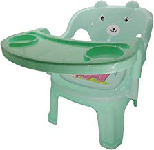 Kriva Plastic Baby Feeding Chair for Kids with Tray & Music - 1pc(Assorted Color & Design)