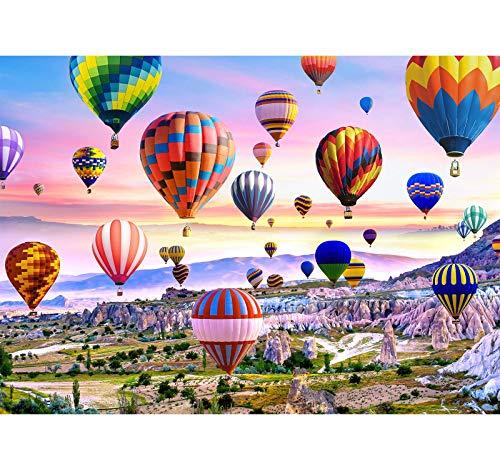 Puzzles for Adults 1000 Piece Puzzles for Adults –Hot Air Balloons Landscape Style Jigsaw Puzzle Game Toys Gift