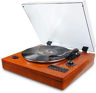 WHSS Gramophone en bois, machine à boîte magnétique rétro, haut-parleur Bluetooth, lecteur de vinyle, RCA, enregistrement ...