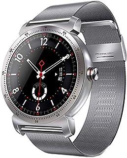 WJFQ Reloj Inteligente Inteligente Reloj Pulsera de Pulsera Impermeable de la Aptitud Tracker con Monitor de presión Arterial del sueño del Ritmo cardíaco Hombres Mujeres (Color : Silver)