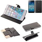 K-S-Trade® Handy Schutz Hülle Für Jiayu S3 Advanced Flip Cover Handy Wallet Case Slim Bookstyle Schwarz